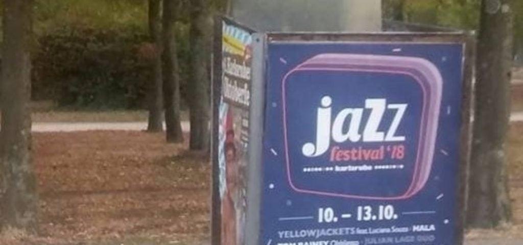 Aufsteller Jazzfestival Karlsruhe 2018