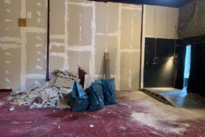 Eingangsbereich abgebaut, Saal 1