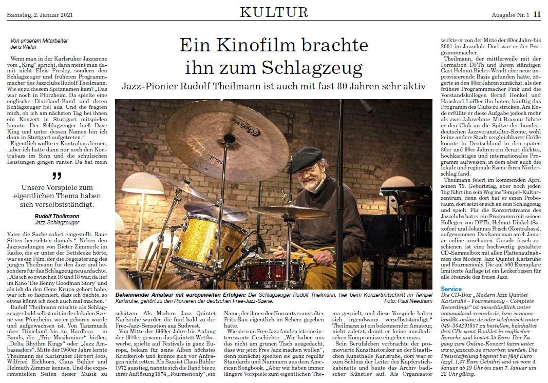 BNN: Ein Kinofilm brachte ihn zum Schlagzeug